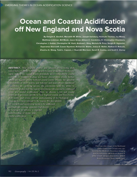 NECAN Report on Ocean and Coastal Acidification